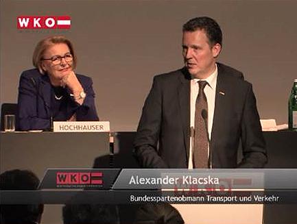 Bundesspartenobmann Ing. Mag. Alexander Klacska Rede zu den Delgierten des Wirtschaftsparlamentes der WKÖ