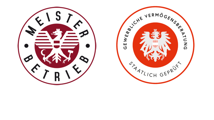 """Gütesiegel """"Meisterbetrieb"""" und Gütesiegel """"staatlich geprüft"""" Highlight"""