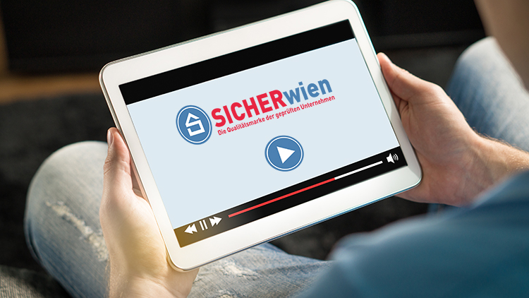 Tablet mit Logo sicherWien